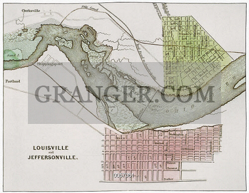 Jeffersonville Ohio Map.Image Of Jeffersonville Indiana Map Map From 1837 Of