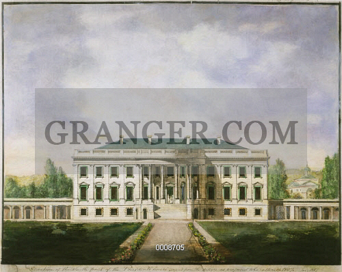 Front Elevation Of White House : Image of white house d c  elevation the south