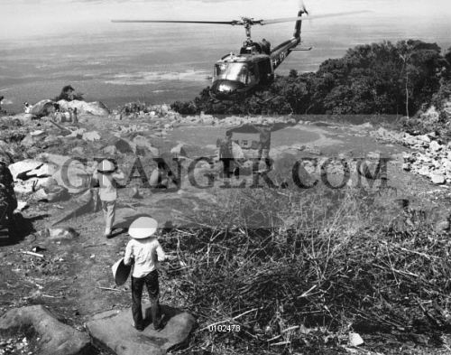Image of VIETNAM WAR: HELICOPTER  - A U S  Army Bell Huey Helicopter