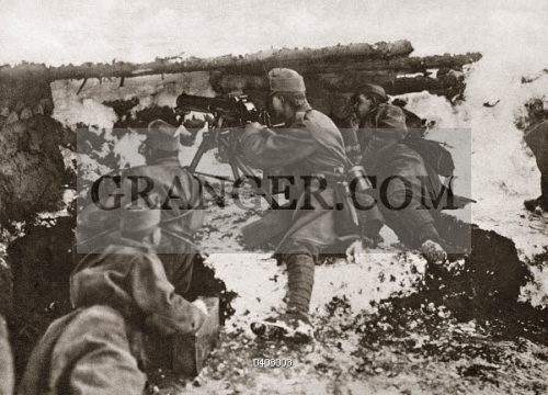 Image of WORLD WAR I: CARPATHIANS  - Austrian Machine-gun