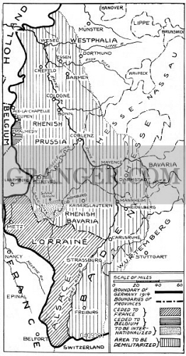 Map Of Germany 1919.Image Of World War I Map 1919 Boundaries Of Germany Under The