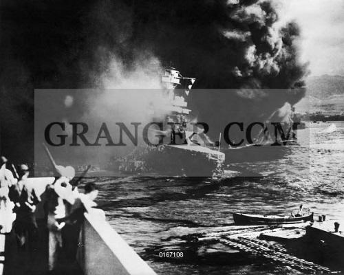 Image of WORLD WAR II: PEARL HARBOR  - The USS California