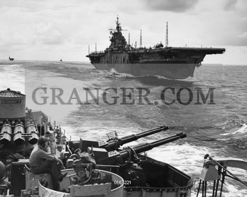 Image of WWII: USS ESSEX, 1943  - The USS Essex Aircraft Carrier As