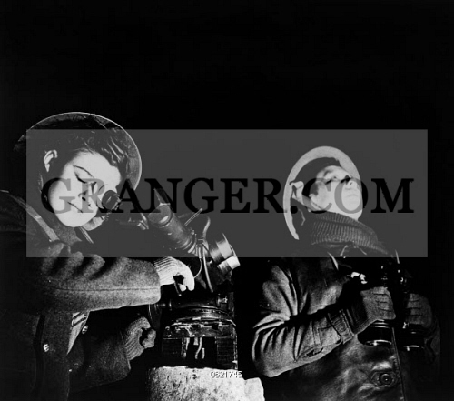 Image of WWII: GUN GIRLS, C1942  - Two Women Of The