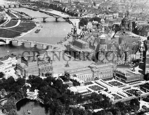 Map Of Germany Showing Dresden.Image Of Germany Dresden 1930s Aerial Photograph Of The Center