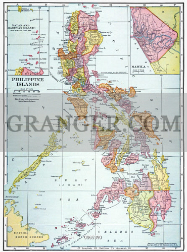 Image of MAP: PHILIPPINES, 1905. - Map Of The Philippine Islands ...