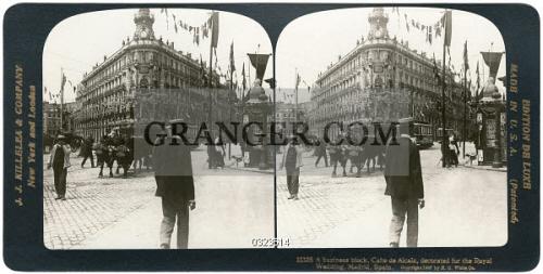 Image Of Spain Calle De Alcala 1906 A Business Block Calle