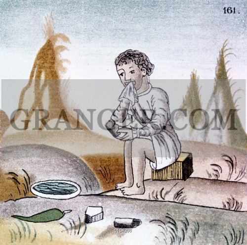 MEXICO: AZTEC EATING. 