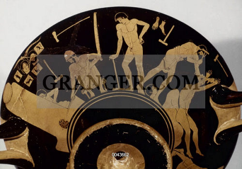 Image Of Greek Vase Foundry Attic Red Figure Kylix Detail 490