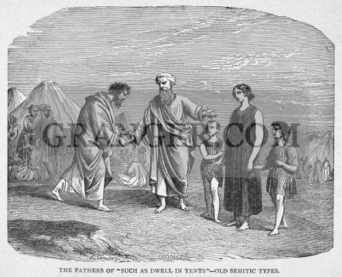 Semitic tent-dwellers of the Holy Land. & Image of HOLY LAND: TENT-DWELLERS. - Semitic Tent-dwellers Of The ...