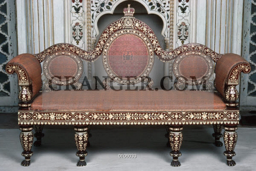 Image Of Indian Sofa Indian Sofa Of Wood With Inlaid Ivory With