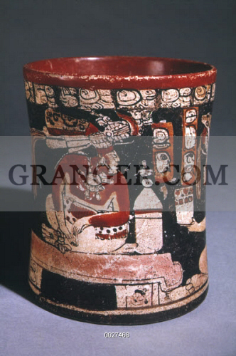 Image Of Mayan Vase C750 780 Ad Late Classic Maya Vase With