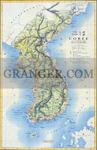 Image Of KOREA Th Century French Map Of The Korean Peninsula - Map of korea