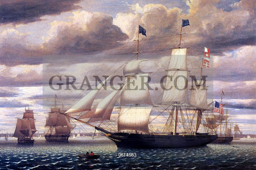 Image of USA / CHINA  - The Clipper 'Southern Cross' Leaving