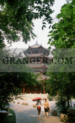 Ten Thousand Buddha Pagoda Du Fu Caotang Fus Thatched Cottage