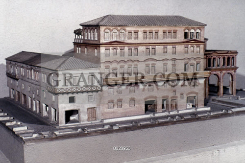 Ostia Apartment Building Model Of The House Diana A Roman At