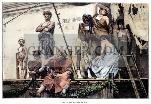 Image of ANCIENT ROME: SLAVE MARKET. - A Slave Market In ...